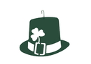 Village Wrought Iron HOS-261G St. Pat Hat - Decorative Hanging Silhouette