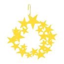 Village Wrought Iron HOS-45Y Star Wreath - Decorative Hanging Silhouette