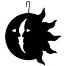 Village Wrought Iron HOS-62 Sun/Moon - Decorative Hanging Silhouette