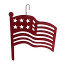 Village Wrought Iron HOS-72R American Flag - Decorative Hanging Silhouette