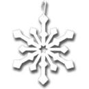 Village Wrought Iron HOS-85W Snowflake - Decorative Hanging Silhouette