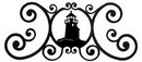 Village Wrought Iron HP-OD-10 Lighthouse - Over Door Plaque