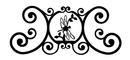 Village Wrought Iron HP-OD-71 Dragonfly - Over Door Plaque