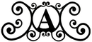 Village Wrought Iron HP-OD-A House Plaque Letter A