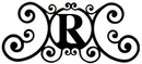 Village Wrought Iron HP-OD-R House Plaque Letter R
