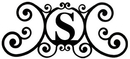 Village Wrought Iron HP-OD-S House Plaque Letter S