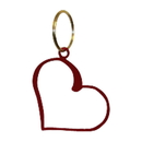 Village Wrought Iron KC-51R Heart - Key Chain - RED