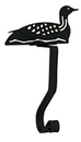 Village Wrought Iron MH-A-116 Loon - Mantel Hook