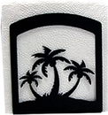 Village Wrought Iron NH-139 Triple Palm Tree Napkin Hldr