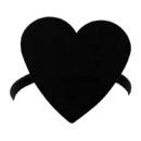 Village Wrought Iron NR-46 Heart - Napkin Ring