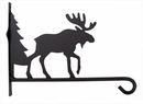 Village Wrought Iron PHD-22-12 Plant Hanger Moose & Tree 12 Inch