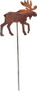 Village Wrought Iron RGS-19 Moose - Rusted Garden Stake