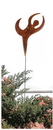 Village Wrought Iron RGS-273 Dancer - Rusted Garden Stake