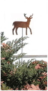 Village Wrought Iron RGS-3 Deer - Rusted Garden Stake