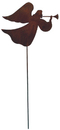 Village Wrought Iron RGS-48 Angel - Rusted Garden Stake