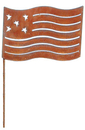 Village Wrought Iron RGS-72-A Flag - Rusted Garden Stake Large