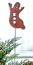 Village Wrought Iron RGS-75 Ghost - Rusted Garden Stake
