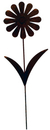 Village Wrought Iron RGS-95 Daisy - Rusted Garden Stake
