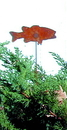 Village Wrought Iron RGS-9 Fish - Rusted Garden Stake