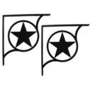 Village Wrought Western Star - Shelf Brackets