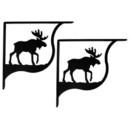 Village Wrought Moose - Shelf Brackets