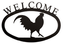 Village Wrought Rooster - Welcome Sign