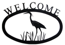 Village Wrought Heron - Welcome Sign