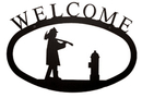 Village Wrought Fireman - Welcome Sign