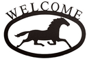Village Wrought Iron WEL-17-L Running Horse - Welcome Sign Large