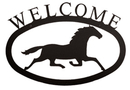 Village Wrought Iron WEL-17-S Running Horse - Welcome Sign Small