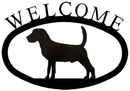 Village Wrought Iron WEL-236-S Beagle - Welcome Sign Small