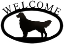 Village Wrought Iron WEL-237-S Retriever - Welcome Sign Small