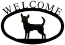 Village Wrought Iron WEL-240-S Chihuah - Welcome Sign Small