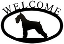Village Wrought Iron WEL-242-S Schnauzer - Welcome Sign Small