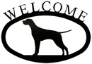 Village Wrought Iron WEL-243-S Pointer - Welcome Sign Small