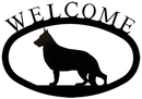 Village Wrought Iron WEL-245-S German Shepherd - Welcome Sign Small