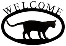 Village Wrought Iron WEL-247-S Cat at Play - Welcome Sign Small