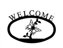Village Wrought Iron WEL-38-S Butterfly - Welcome Sign Small