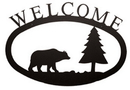 Village Wrought Bear & Pine - Welcome Sign