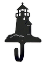 Village Wrought Iron WH-10-S Lighthouse - Wall Hook Small