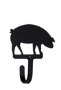 Village Wrought Iron WH-11-S Pig - Wall Hook Small