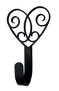 Village Wrought Iron WH-110-S Heart - Wall Hook Small