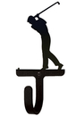 Village Wrought Iron WH-135-S Golfer - Wall Hook Small