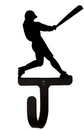Village Wrought Iron WH-182-S Baseball Player - Wall Hook Small
