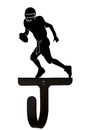 Village Wrought Iron WH-195-S Football Player - Wall Hook Small
