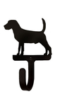 Village Wrought Iron WH-236-S Beagle - Wall Hook Small