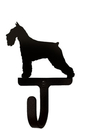 Village Wrought Iron WH-242-S Schnauzer - Wall Hook Small