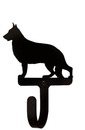 Village Wrought Iron WH-245-S German Shepherd - Wall Hook Small