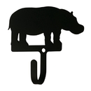 Village Wrought Iron WH-294-S Hippo - Wall Hook Small