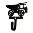 Village Wrought Iron WH-296-S Dump Truck - Wall Hook Small